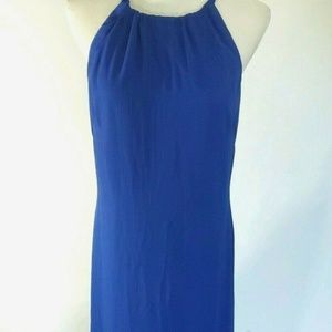 Vince Camuto Womens Size 8 Blue Dress Pleated